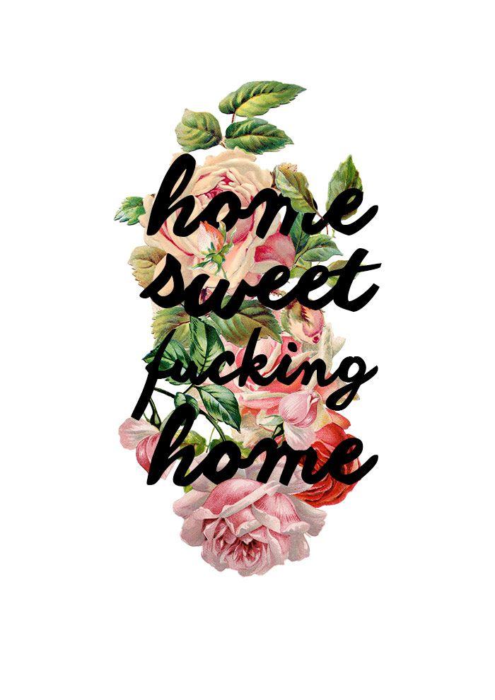 Pôster pra baixar - Home sweet f*cking home - Ricota Não Derrete