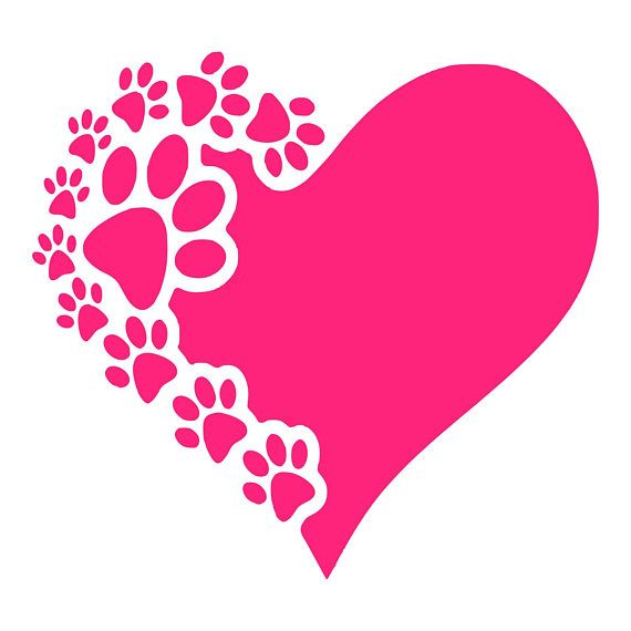 Digi-tizers Paw Prints Heart (SVG Studio V3 JPG)  We also make shirts, vinyl decals, wall art, koozies and more! If you would like any of our designs on a different item than listed please send me a message and I will see if we can accommodate you. *Note.. if you ordered a digital
