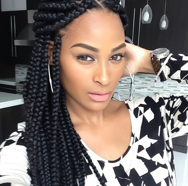 Swell 1000 Ideas About Big Box Braids Hairstyles On Pinterest Box Hairstyle Inspiration Daily Dogsangcom