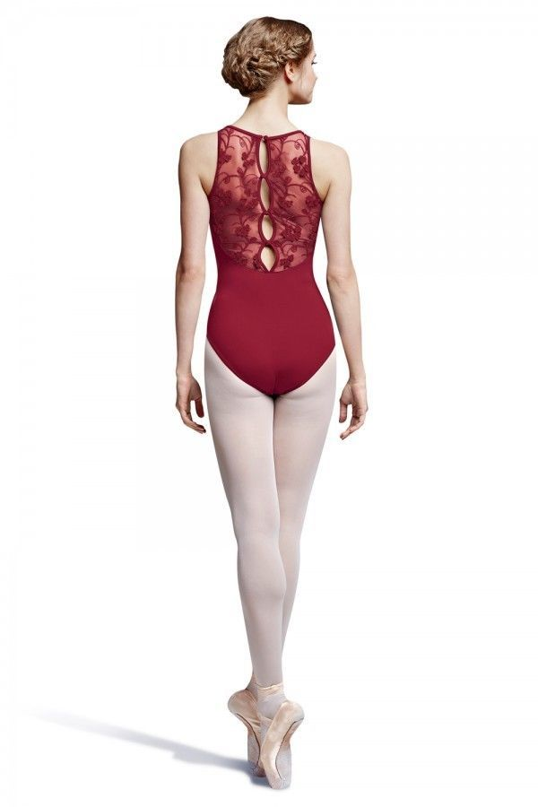 Bloch Leotard Tank Lace Clayii Being Red Adult Small #BLOCH