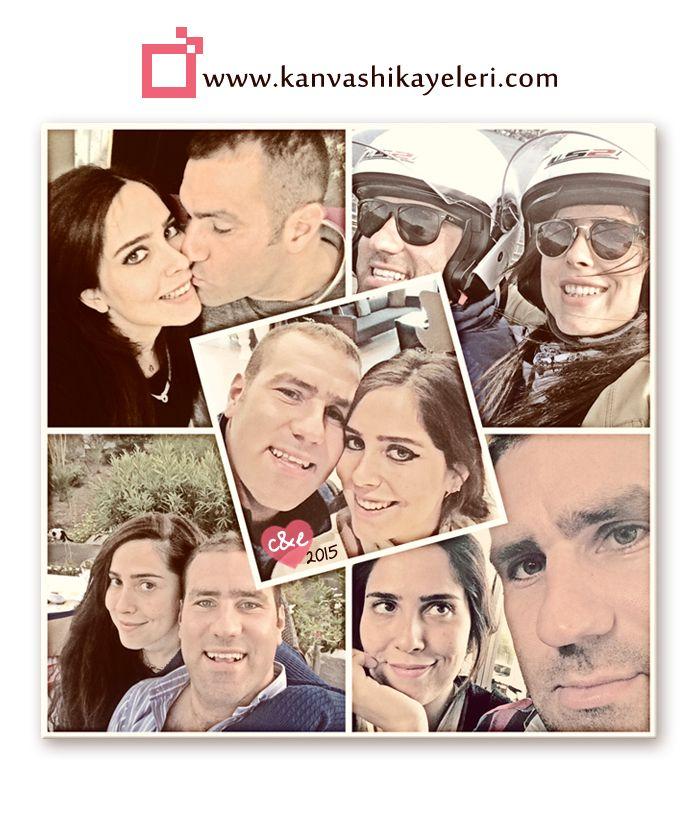 Foto kolaj kanvas tablolarla tüm sihirli anlar bir arada! www.kanvashikayeleri.com'da 14 Şubat şerefine %25 İNDİRİM VAR! (20 Ocak - 9 Şubat)