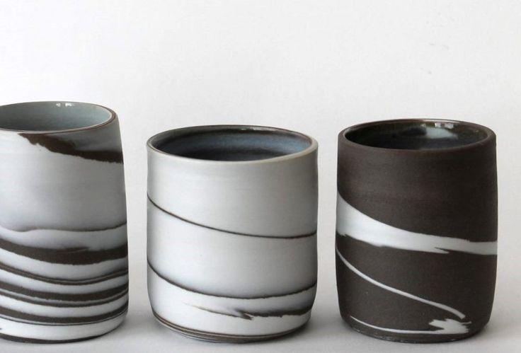 little vases black & white Marjoke de Heer