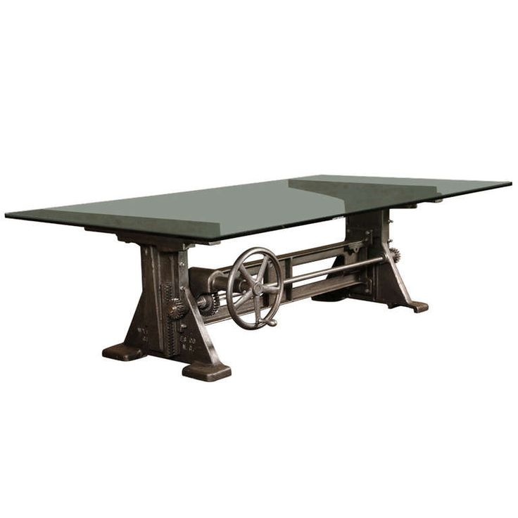 Vintage Industrial, Cast Iron Adjustable Table/Desk Base - wow, how cool is that, too bad I don't need one!