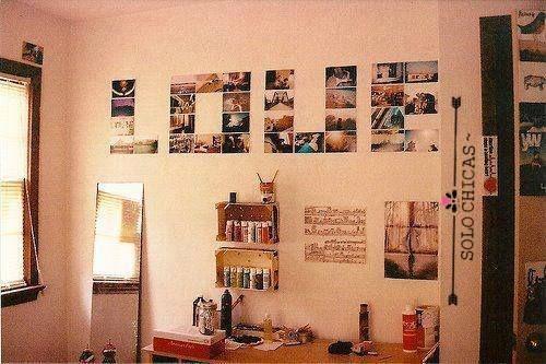 Me encanta la decoracion con fotos es muy significativo por los recuerdos