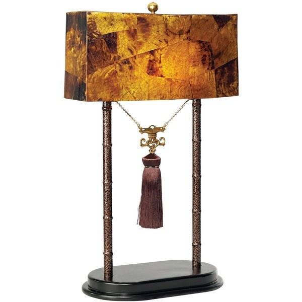 Maitland Smith Faux Tortoise Pen Shell Shade Table Lamp 07710 420 Liked On Polyvore Pinterest And Chandelier Fan