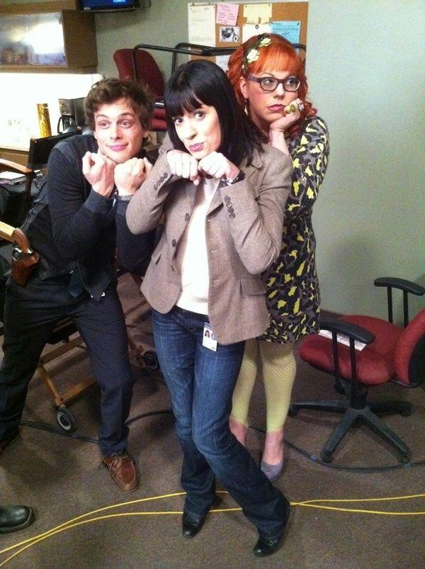 "Matthew Gray Gubler, Paget Brewster, & Kirsten Vangsness from ""Criminal Minds"" <3 LOVE THIS SHOW!"
