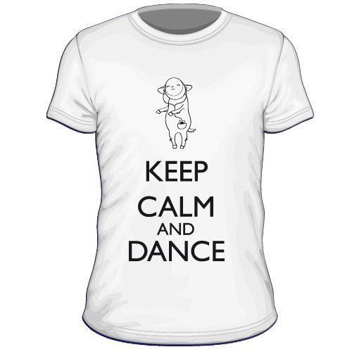 Maglietta personalizzata Keep Calm and Dance