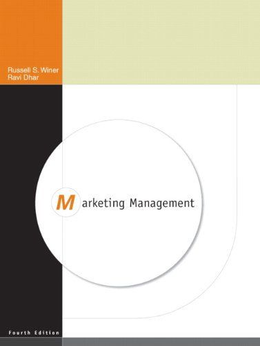 Marketing Management (4th Edition). #0136074898, #BusinessEconomics, #BUSINESSECONOMICSMarketingGeneral, #Management, #MarketingGeneral, #MarketingManagement, #MarketingManagement4ThEdition, #Pearson, #RaviDhar, #RussWiner #MarketingPromotions Go beyond the basic concepts with a strategic focus and integration of IT and global perspectives. Marketing Management reflects the dynamic environment inhabited by today's marketers, helping readers understand this increasingly