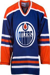 Edmonton Oilers CCM Vintage 1982 Royal Replica NHL Hockey Jersey