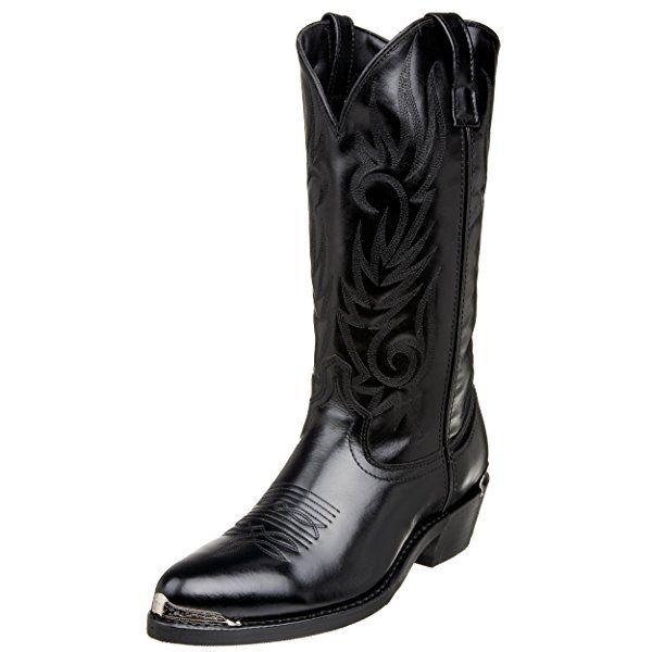 Laredo 12621Hombre Mccomb Piel de color negro envejecido pie Botas Vaqueras, color Negro, talla 41 EU