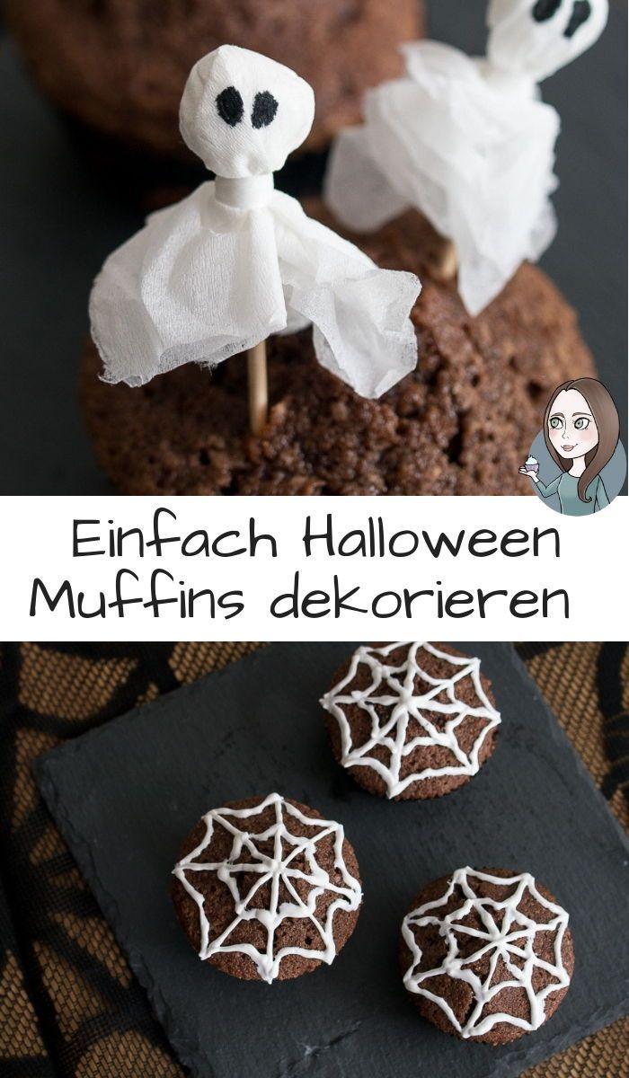 Schmucken Sie Einfach Halloween Muffins Halloween Einfach Halloween Halloweenmuff Muffins Dekorieren Halloween Muffins Dekorieren Halloweenmuffins