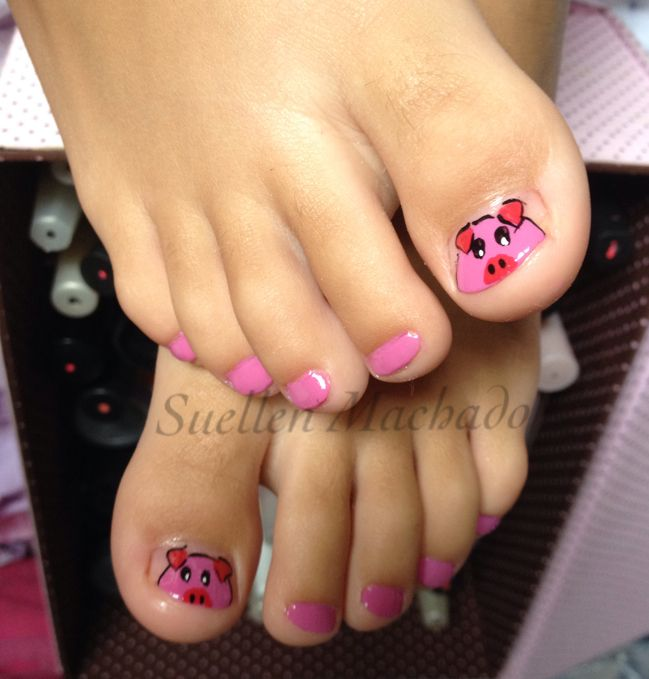 Cute Pig Nail Art Designs : Best ideas about pig nail art on pinterest nails