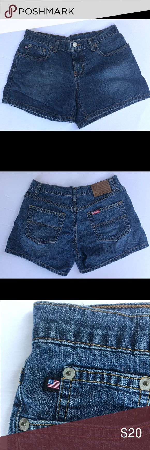 VINTAGE WOMENS RL POLO JEANS DENIM SHORT Super cute RALPH LAUREN Polo Jeans DENIM shorts! Great condition! Perfect to dress up or down. Size 2. polo jeans co Shorts Jean Shorts