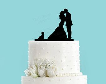Army Groom and Bride Acrylic Wedding Cake by ChickDesignBoutique
