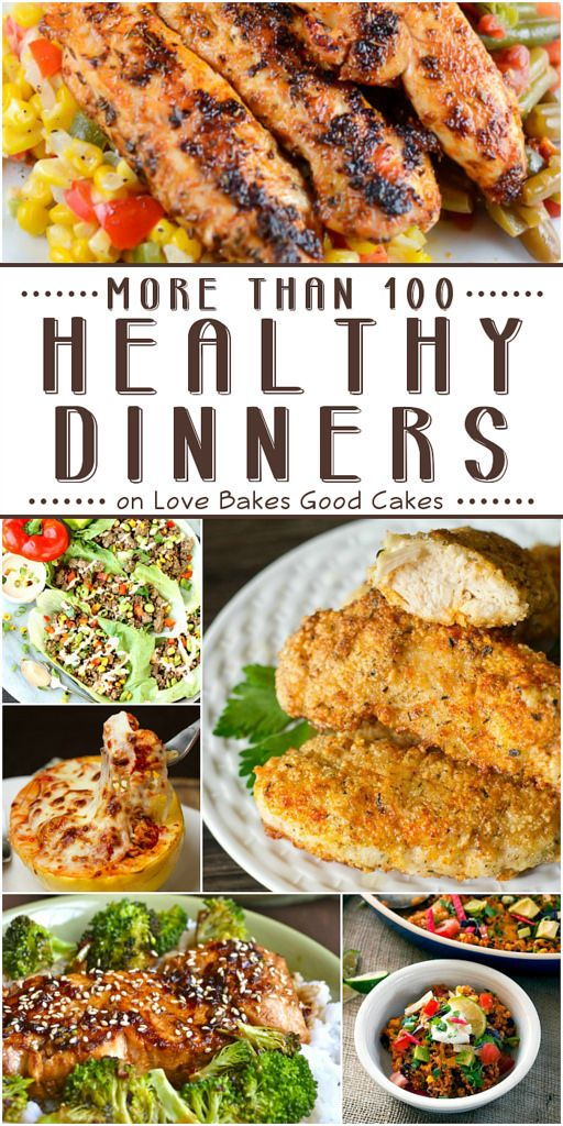 More than 100 healthy dinners!