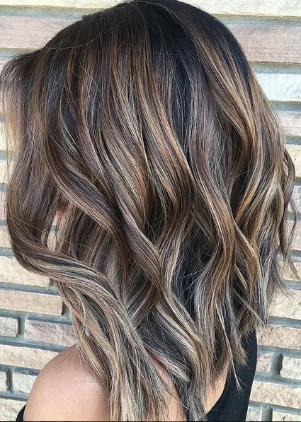 ashy brunette highlights