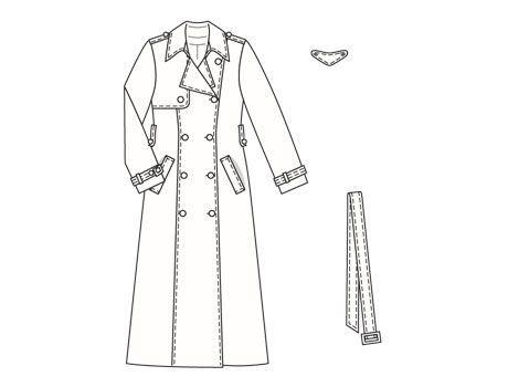 Burdastyle 09-2006-103 Trench coat, 38-44