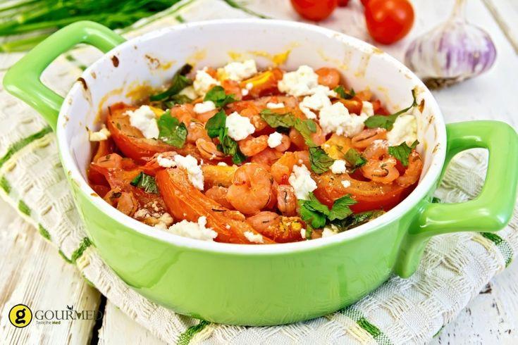 Γαρίδες σαγανάκι με φέτα - gourmed.gr