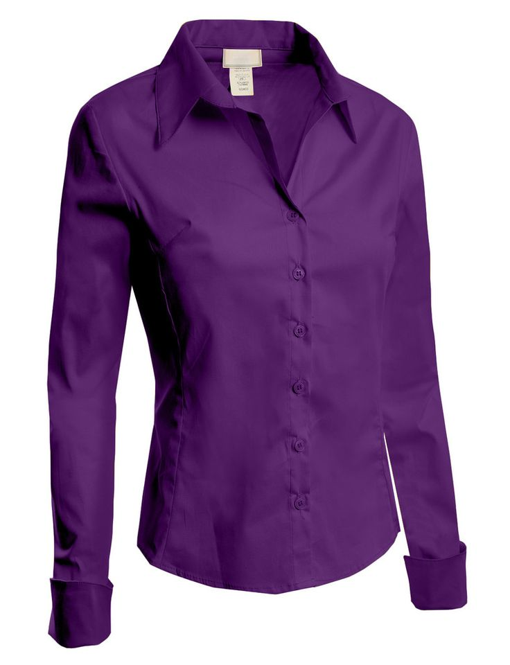 Womens lightweight tailored button down shirt with stretch for Womens stretch button down shirt