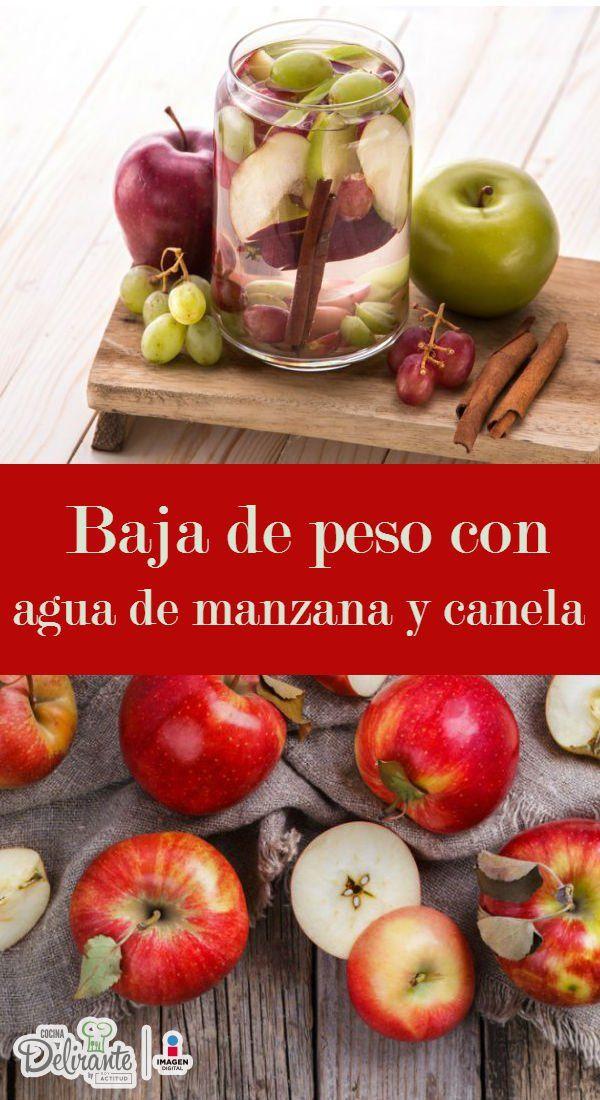 Receta fácil de agua de manzana con canela   CocinaDelirante