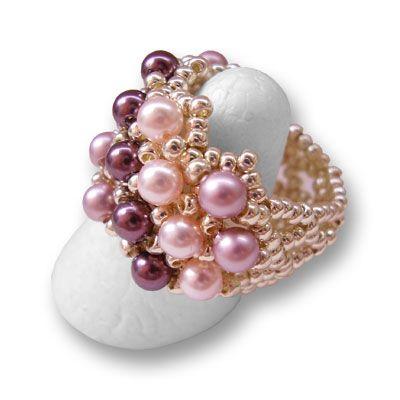 W link to PDF download Anillo de la perla, Pearl anillos, Patrones (gratis) - NewPerle : vente de perles en ligne
