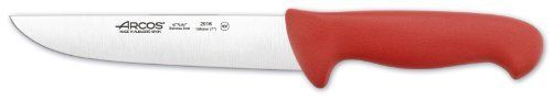 Arcos 7-Inch 180 mm 2900 Range Butcher Knife, Red by ARCOS HERMANOS,S.A.. $23.19. Made of hardened and tempered Nitrum stainless steel. Precise cutting tool used by professionals worldwide. Arcos 2900 range 7-inch red colour handle butcher knife specially designed for cutting meat. nsf certified. Ergonomic handle with full colour handle available promotes hygiene and health for the consumer. State-of-the-art made blade ensures high cutting power (over 100 mm) and long ...