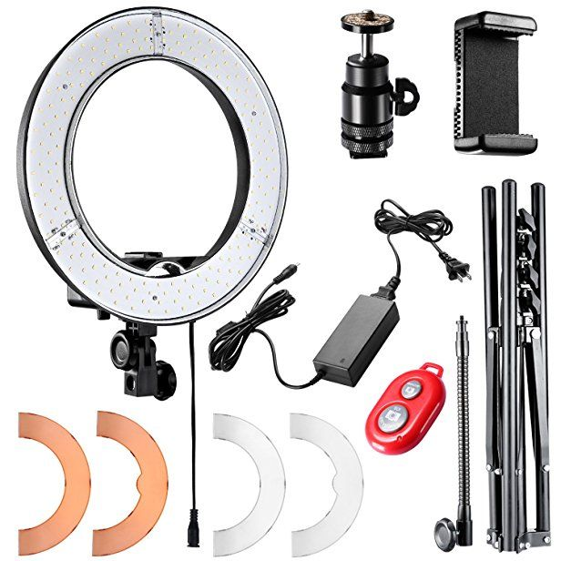 Neewer Ring Light 14 Inch Led With Light Stand 36w 5500k Lighting Kit With Soft Tube Color Filter Hot Shoe Adapter Led Ring Light Dslr Accessories Camera Phone