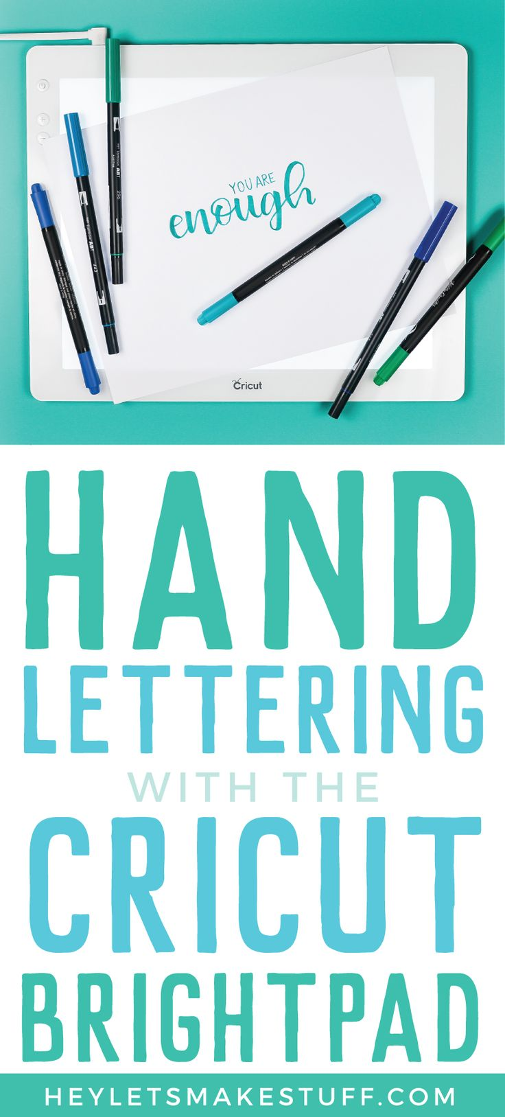 Using The Cricut Brightpad For Hand Lettering Cricut Brightpad Hand Lettering Lettering