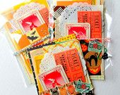 Halloween Mini Paper Pack  / Vintage & New  / DIY Kit