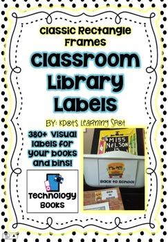 Library Book  Labels –  380+Classic Rectangle Book and Boo