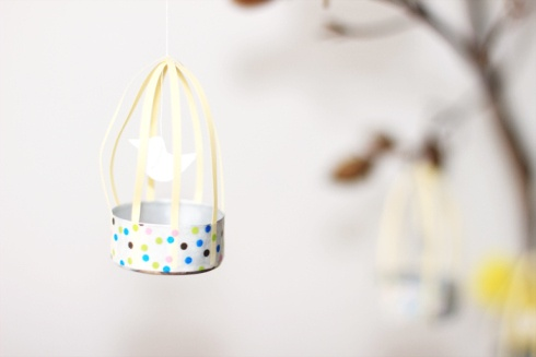 DIY Paper Birdcage with Washi Tape