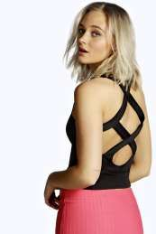 Boohoo Strappy-Back Top - £6 - Size 8
