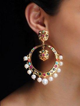 Navratan Earrings