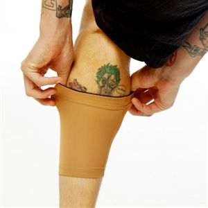 Tattoo Sleeve Cover | Tattoo Cover Up Sleeve | Ink Armor Light Calf Sleeve | Tat2X.  The nylon/spandex fabric blend keeps you comfy whether it's hot or cold and our never-slip elastic grip keeps our calf sleeves firmly in place. Check out our new quantity discounts! ~ The more you buy, the MORE you SAVE ~ Up to 20% Off!   #keepyourtattoosprotected #tattoocoverage #tattoos #protectyourink   www.tat2x.com