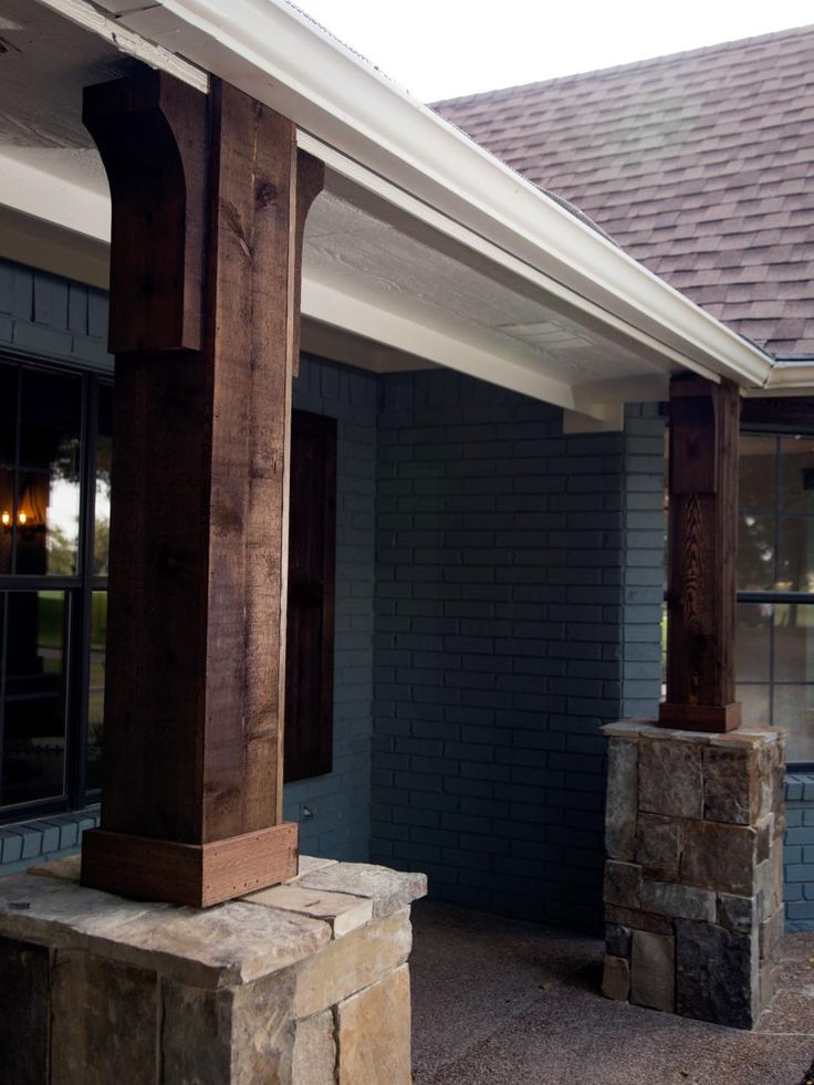 Ideas about stone columns on pinterest front porch