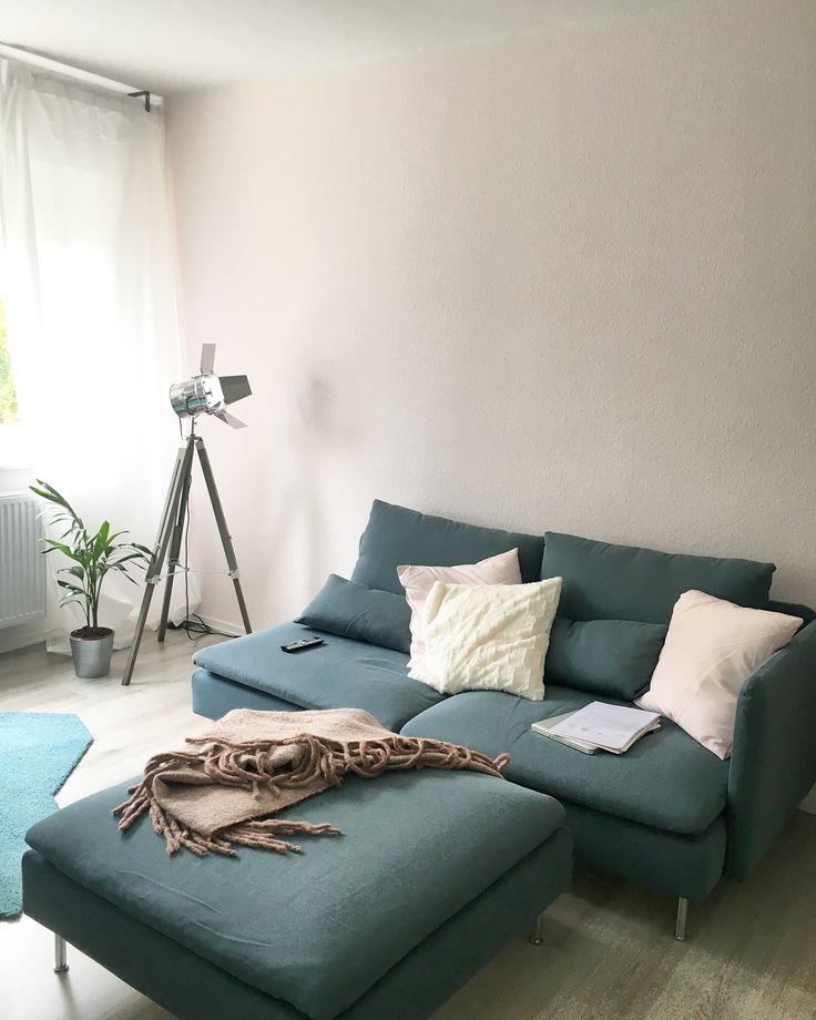 Ikea Soderhamn In Finsta Turkis Wohnung Wohnzimmer Wohnzimmer