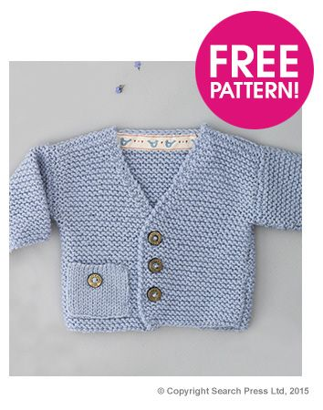 Free knitting pattern for Windsor Cardigan baby sweater by .Susan Campbell…