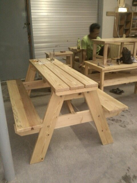 Pallet picnic table 150cm long