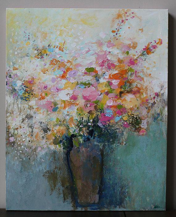arte pintura naturaleza muerta pintura de la flor por artbyoak1