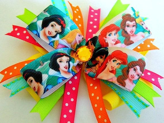 Hey, I found this really awesome Etsy listing at http://www.etsy.com/listing/150559446/disney-princess-bow-princess-hair-bow