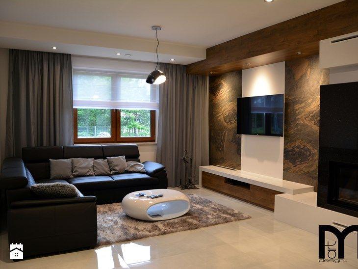 Realizacja projektu domu jednorodzinnego w stylu nowoczesnym - Średni salon, styl nowoczesny - zdjęcie od Mart-Design Architektura Wnętrz