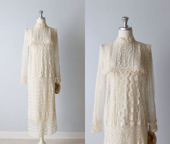 Edwardian Wedding Dress / Lace Wedding Dress par TheVintageMistress, $246.00