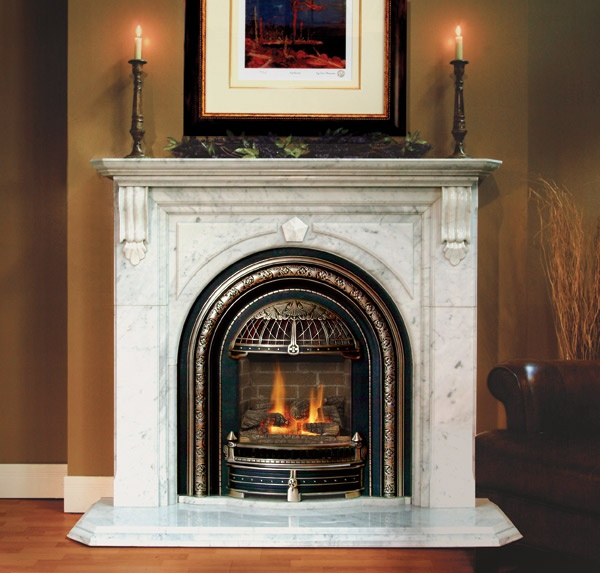 Mantel And Gas Fireplace Insert Fantastic Fires Pinterest