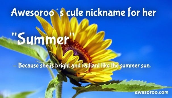 cute nickname for her summer 2
