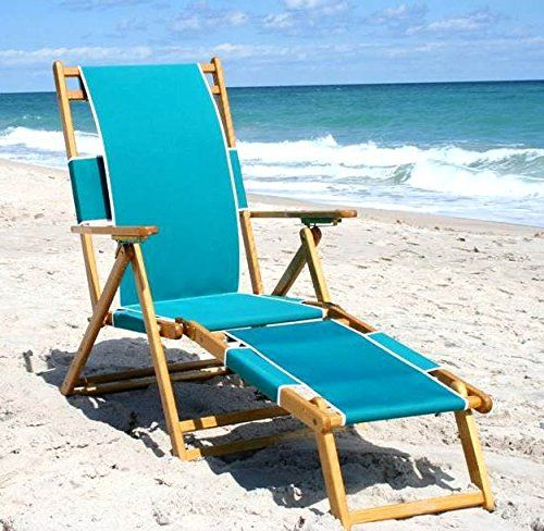 """Chaise Style Beach Lounge Chair (Walnut Brown). Fabric: Walnut Brown. This four position reclining chair is designed for the beach concessionaire or motel owner. Does not recline to flat position. Offers an attachable Leg Rest. 24"""" W x 72"""" L."""