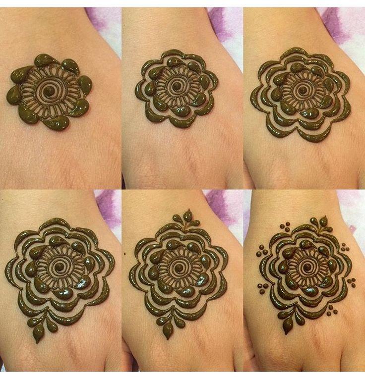 Step by step henna design