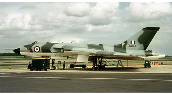 Vulcan B Mk.1 XA909 Delivered on 1 October 1957 and fitted with Olympus 104 engines. Converted to B.1A standard in 1962. Served with: 101 Squadron, 50 Squadron Waddington Wing. Crashed on Anglesey on 16 July1964 following an engine explosion. All crew escaped.