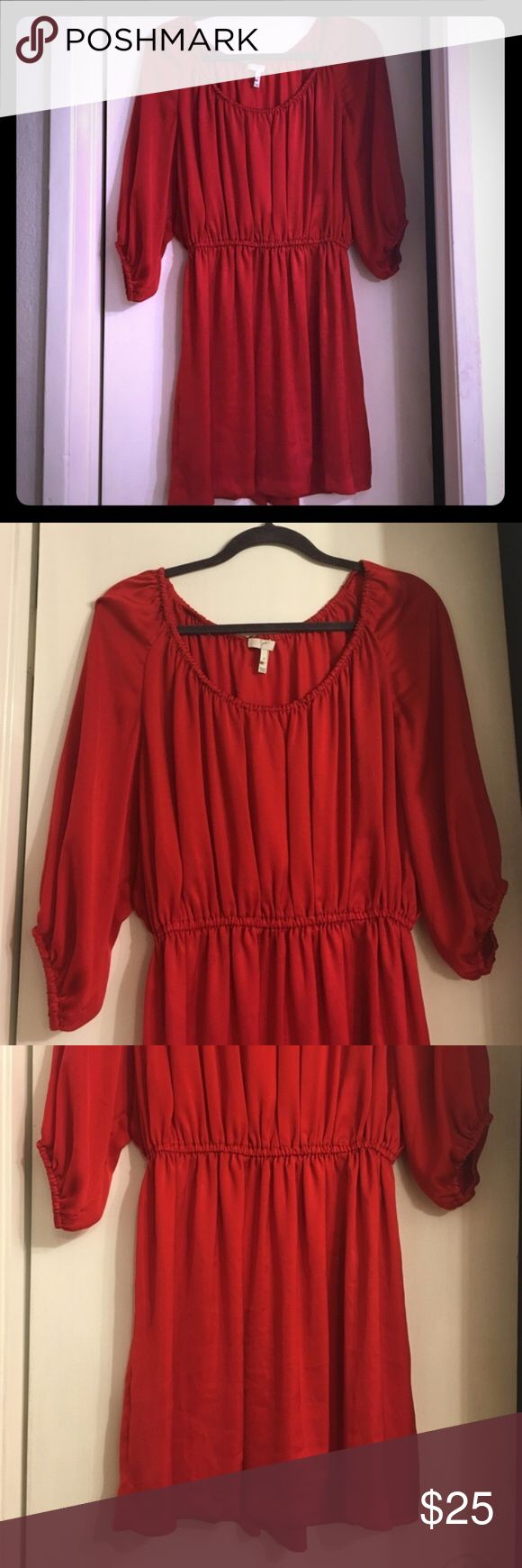 Joie dress Beautiful red dress. Gently worn. Great condition. Vibrant color. Perfect for spring and summer. Joie Dresses