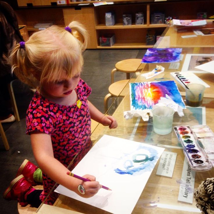 """""""Indira got to tag along today & was miraculously well behaved #littlesister #babyartist"""""""