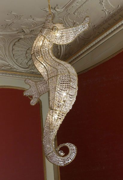 Gorgeous Hans van Bentem Seahorse Chandelier